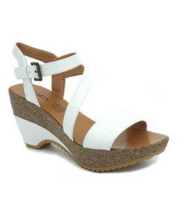 Compensé Lpb Shoes Maelle blanc, sandale plate forme Les P'tites Bombes
