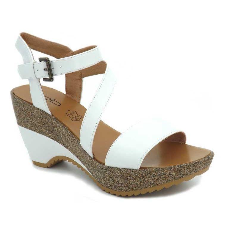 matériaux de qualité supérieure meilleures chaussures beau Sandales compensées Lpb Shoes Maelle blanc, Les P'tites ...