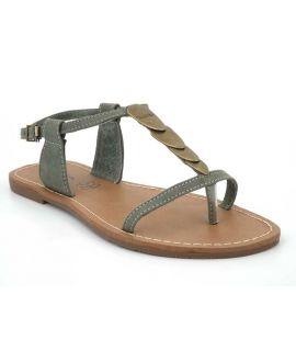 Sandales plates Lpb Shoes Pepita kaki