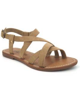 Lpb Shoes Romane taupe, sandale plate Les p'tites bombes