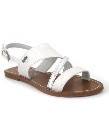 Lpb shoes Phibby argent, sandale nu pied femmes