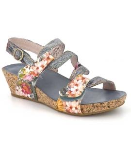 Nu pied compensé Laura Vita Beclindao gris nouveauté