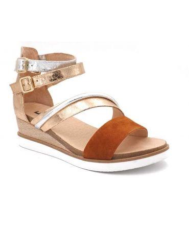 daf86e41f Acheter sandale Fugitive Nemar, nus pieds compensés femme en cuir