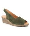 Sandale nu pied Kaola 191 kaki, spécial pieds sensibles