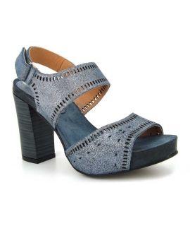 Sandale talon Kaola 6510 bleu irisé