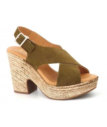 Sandale Kaola 425 Ser kaki, nouveauté chaussures femmes