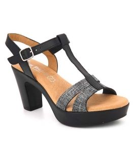 Sandale talon Eva Frutos 5832 noir, bride salomé