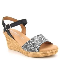 sandale plate-forme Eva Frutos 9569 noir