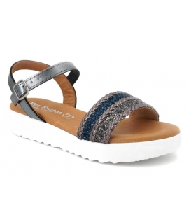 Sandale femme Eva Frutos 5083 plomb multi