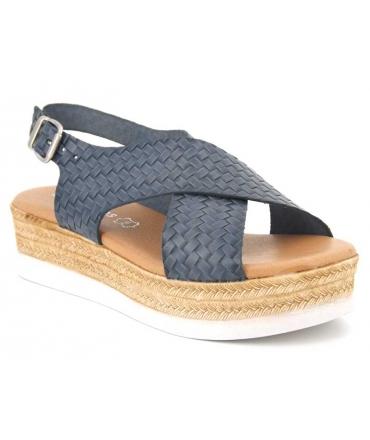 Nu pied confort 7398 bleu jeans Eva Frutos