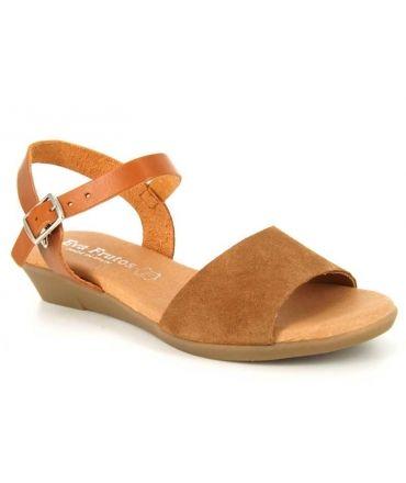 b08f2d69167643 Sandale Eva Frutos 9039 cuir nubuck marron ou moutarde | Nus pieds ...