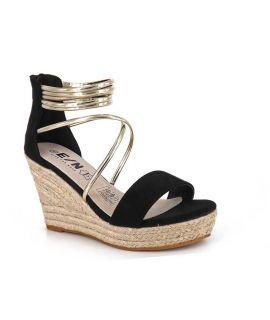 Sandale cordes Elue Par nous Epoisse noir, E/N