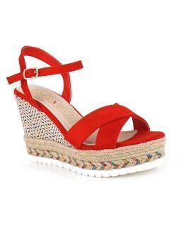 Sandale compensée Playa Joset 1 rouge