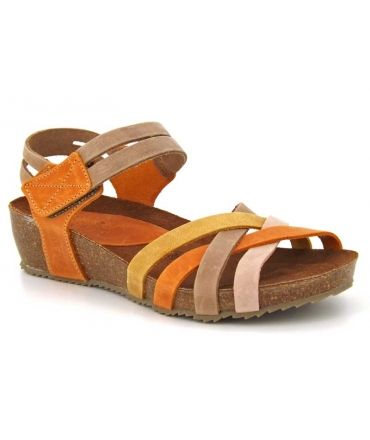 Sandale confortable Inter Bios 5338 Beige Multi