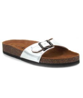 Lpb Shoes Opaline Argent, mules pour femmes