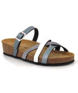 Nu-pied à talon compensé Kedzaro Brindisi