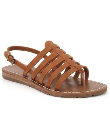 d391e1dc15a6 Ventes Chattawak Shirley, sandale spartiate cuir camel ou noir pour ...