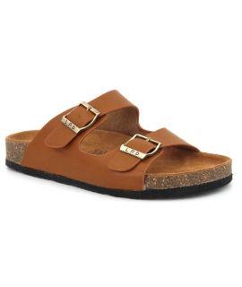 Mules anatomiques Orphee camel, nus pieds femmes Lpb Shoes