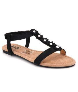 Sandale pas chere Elue par Nous Ebene noir