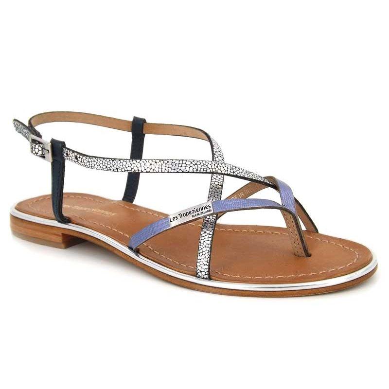 Sandales Les Tropéziennes par M Belarbi Monaco bleu ou or