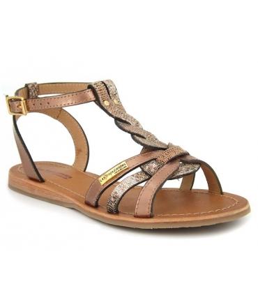 Nus-pieds cuir Les Tropéziennes Hams bronze par M Belarbi