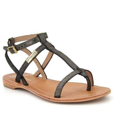 Sandale Les Tropéziennes Hilan noir irisé pour femmes