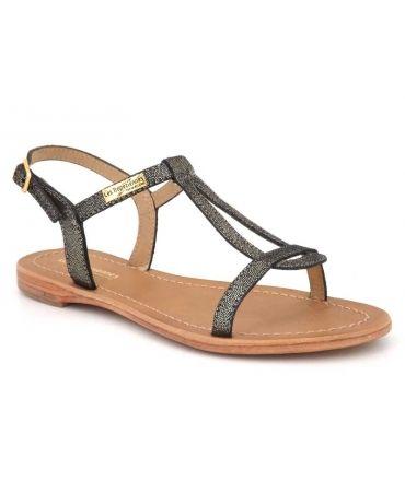 Sandale les Tropéziennes Hamat noir irisé