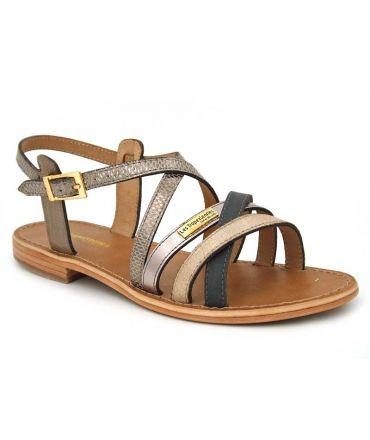 Les Tropéziennes Hapax taupe, sandale en cuir pour femmes