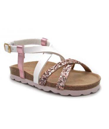 Les tropéziennes Plouf Rose, sandale anatomique fillette