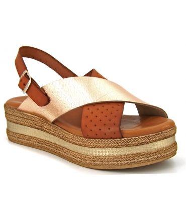 Sandales Carla Tortosa 1550 Cuero, compensé confort et mode