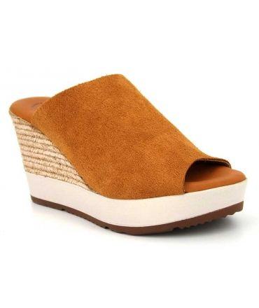 Mules sabots femmes Millennials Shoes 3211 Serraje camel