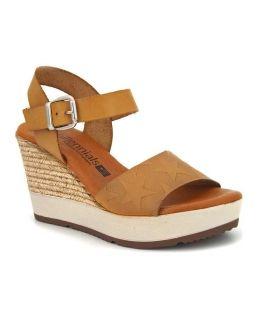 Sandale compensée femmes Millennials Shoes 3213 Milmosta jaune