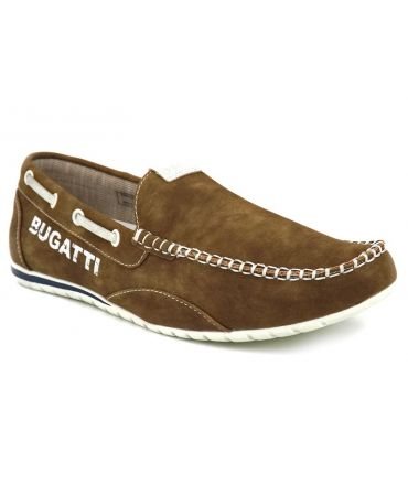 Mocassin Bugatti Minesota taupe, chaussures pour hommes