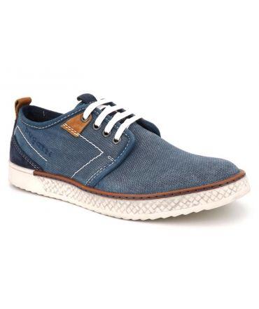 Derby Bugatti Brandon bleu chaussures pour hommes