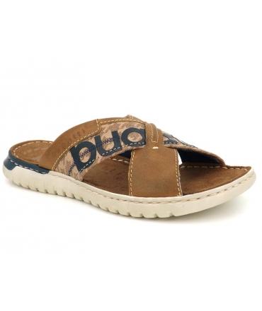 Chaussures Bugatti mules Idaho beige, nu-pieds hommes