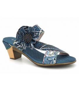 Mule à talon Laura Vita Becttinoo 179 bleu pour femmes