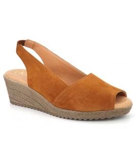 Sandale compensée Kaola 191 marron pour femmes