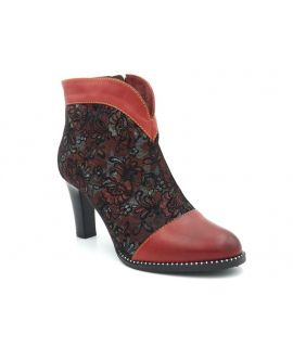 Bottines fantaisie Laura Vita Alcbaneo 039 rouge