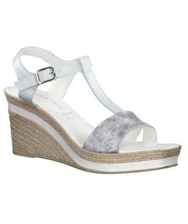 Sandale compensée Marco Tozzi 28340-24 blanche