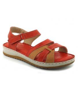 Elue par Nous Giant, sandale en cuir rouge pour pieds sensibles