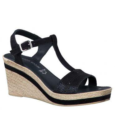 Sandale compensée Marco Tozzi 28340-24 bleu pour femmes