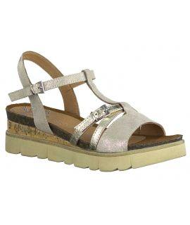 Sandale Marco Tozzi 28502-24 en cuir beige