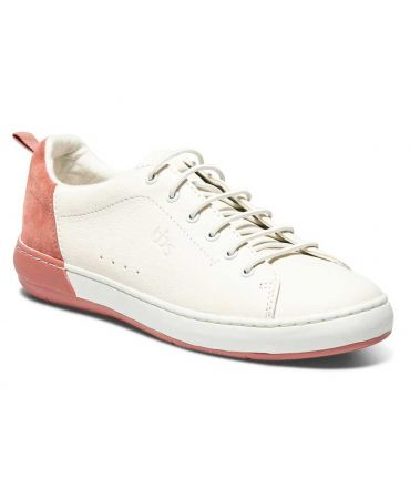 Tbs Tenilla blanc et corail, baskets en cuir pour femmes