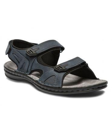 Tbs Berric H 8072 navy, sandales velcros pour hommes
