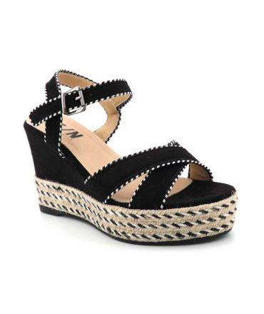 Sandale Elue par Nous Genie noir, compensé pour femmes