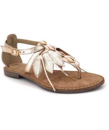Elue par Nous Gaie platine, sandale cuir pour femmes