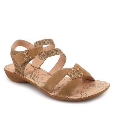 Sandale Fugitive Alera taupe, Nu-pieds pour femmes