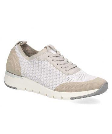 Baskets Caprice 23702-24 blanc, sneakers femmes grande largeur