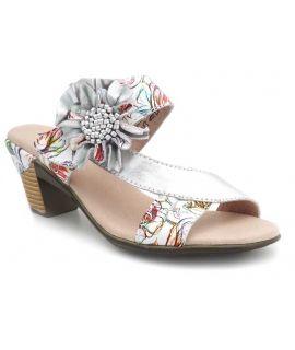 Mules Laura Vita Becttinoo 171 blanc, nu pieds à scratch pour femmes