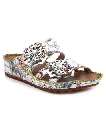 Laura Vita Brcyano 041blanc, mules pour femmes spécial pieds sensibles